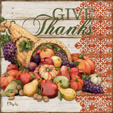 Give Thanks I Prints by Brent Paul
