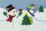 Holiday Snowman Posters by White Betz