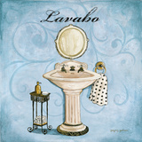 Blue Lavabo Art by Gorham Gregory