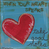 Heart Speaks Plakaty autor Martin Monica