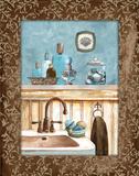 Blue Bath IV Print by Gorham Gregory