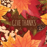 Give Thanks Sq Prints by Berrenson Sara