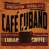 Cuban Coffee Sq. Lámina por Giacopelli Jason