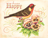 Bird Happy Posters by Gwendolyn Babbitt