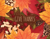Give Thanks Poster by Sara Berrenson