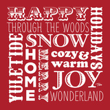 Holiday Words Red Posters by Woo Teresa
