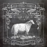 Chalkboard Sheep Prints by Washburn Lynnea