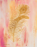 Gold on Pink I Posters by Gwendolyn Babbitt