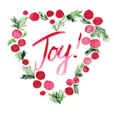 Heart Joy Sq Print by Berrenson Sara