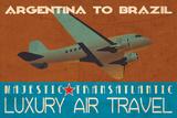 Air Travel Print by Jason Giacopelli