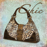 Blue Chic Purse Art by Williams Todd