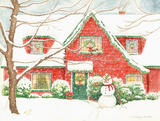 Home for Christmas Prints by Gwendolyn Babbitt