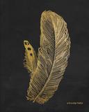 Feather on Black I Print by Babbitt Gwendolyn