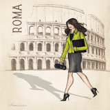 Green Roma Sq Poster by Laliberte Andrea