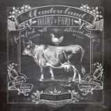 Chalkboard Cow Posters by Washburn Lynnea