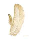 Feather on White I Posters by Gwendolyn Babbitt