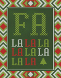 Fa La La La La Prints by Sta Teresa Ashley