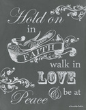 Hold on in Faith Prints by Gwendolyn Babbitt