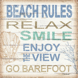 Beach Rules Sq Prints by Williams Todd