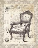 French Chair II Print by Babbitt Gwendolyn