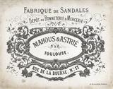 French Letterhead II Print by Gwendolyn Babbitt