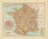 French Map II Posters by Gwendolyn Babbitt