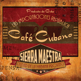 Café Cubano Sq. Posters by Giacopelli Jason