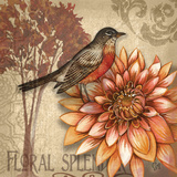 Autumn Songbird I Poster by Charlene Audrey