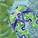 Blue Sarasota Sandals III Prints by Brent Paul