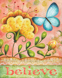 Believe Butterfly Posters by Karla Dornacher