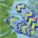 Blue Sarasota Sandals II Poster by Brent Paul