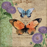 Burlap Butterflies II Prints by Paul Brent