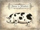 Farm to Market Poster by Gwendolyn Babbitt