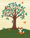 Grand Tree & Foxes Prints by Teresa Woo