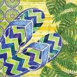 Blue Sarasota Sandals I Prints by Brent Paul