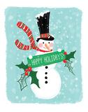 Holiday Snowman Prints by Sara Berrenson