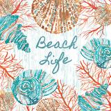 Beachcomber Sign I Print by Berrenson Sara
