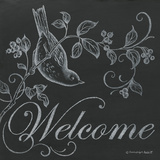 Bird Welcome Print by Gwendolyn Babbitt