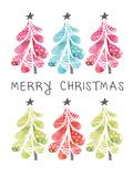Christmas Trees Prints by Berrenson Sara