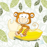 A Banana Ride Prints by  Blue Fish