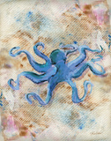 Blue Octopus Poster by LuAnn Roberto