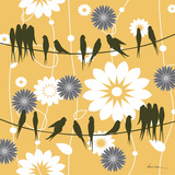 Birds on a Wire Sq I Posters by Denise Urban