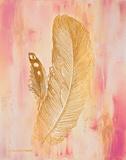 Gold on Pink II Art by Gwendolyn Babbitt