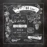 Chalkboard Wine I Posters by Washburn Lynnea