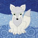 Arctic Fox Art by Betz White