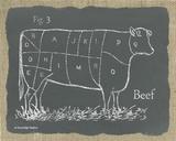 Cow on Burlap Prints by Gwendolyn Babbitt