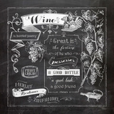 Chalkboard Wine II Art by Washburn Lynnea
