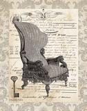 French Chair I Prints by Babbitt Gwendolyn