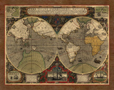 World Map 1595 Posters by Washburn Lynnea