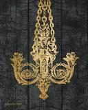 Gold Chandelier II Print by Babbitt Gwendolyn